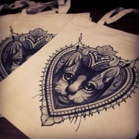 royal cat tattoo designs by agent0tex117