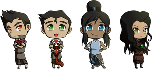 Team Avatar Chibis by tintinabar