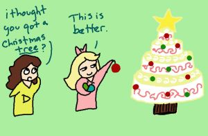 XMas Day 11-Cake by sadwonderland