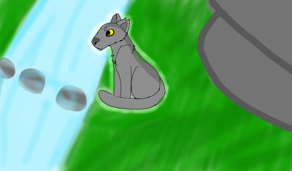 Wait ~ Graystripe by Rainstorm1414