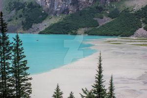 Lake Louise Meets Silt Run-off from the Mountains by aydonis