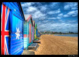 Brighton Bathing Box HDR by DanielleMiner