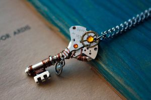 Steampunk key pendant by Devil's Jewel by Catarios