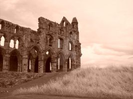 Whitby Abbey Sepia by NoxNoctisUmbra