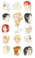 DAO - My elves DA2 style by misi-chan