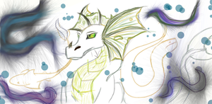 Water Dragon colored by SilverShadowJynx