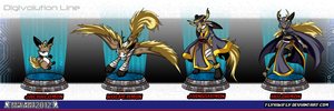 DWC: Jackalomon Evolution Line by FlyKiwiFly