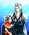 REQUEST: Santura and Sephiroth by GottaLoveAugust31