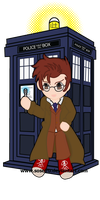 The Doctor and the TARDIS by Soseiru