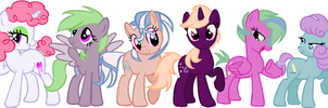 (ALL CLOSED)6 More Adoptables by LunaBestPrincess