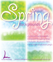 Spring Backgrounds by lorrainerosado