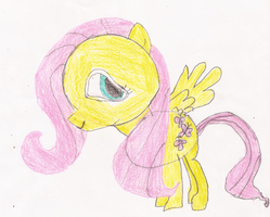 Fluttershy Drawing by SoraJayhawk77