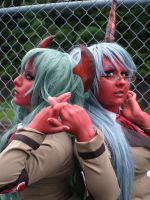 Scanty and Kneesocks III by CookieKabuki