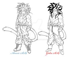 Arevir And Goku SS4 by JayDRivera