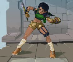 Talim as Yuffie by kevinsano