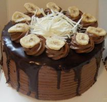 Chocolate Banana Devils Cake by KimmyCakes