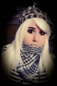 Blonde Girl with Arabic Scarf - 3 by Putiko