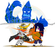 ChibiCOMBAT - Gaim v Madara by Dragon-FangX