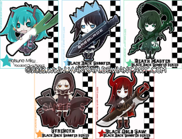 + BRS series and Miku cellphones charms + by VanRah