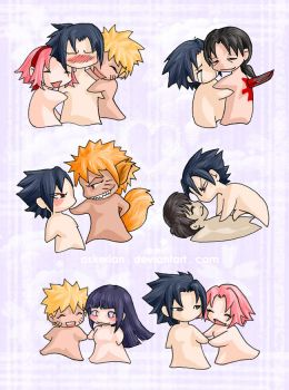 Naruto - Naked chibis oh my by askerian