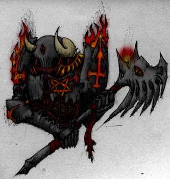 Elder Knight Of Hell (Colored) by Riptide90k