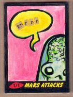 Mars Attacks sketch card collage by kettleart