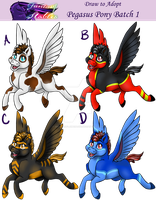 OPEN Fantasy Stables Pegasus Pony Batch1 by DragonsFlameMagic