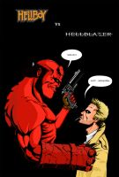 Hellboy vs Hellblazer by shadixx