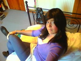 crossdressser on her bed by tgwillclaire