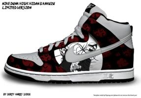Nike Dunk High: Hidan$Kakuzu by DertyHarry
