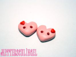 Heart on Heart Buttons by Metterschlingel