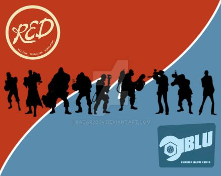 Team Fortress: Red vs Blu by Radar2004