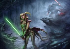 Padawan Red Riding Hood by KimiSz