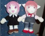 Elfen Lied Plushies by magickitty1972