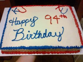 94th KU Birthday Cake by wickedwitchinc