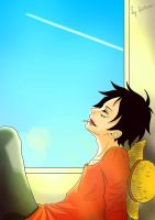 Luffy. sunlight by Aritsune-chan