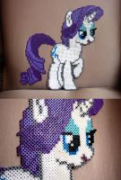 MLP FIM Perler Beads: Rarity by MilkyBoutique