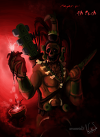 Mayan god: Ah Puch by XLordAndyX
