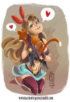 :Kitty hug: by Marmottegarou