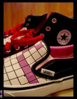 Vans Vs Converse by EvelynMoon