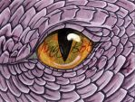 Purple Dragon Eye Watercolor Painting by The-GoblinQueen