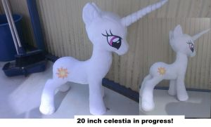 20 inch Princess celestia in progress! by Epicrainbowcrafts