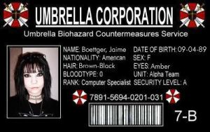 Umbrella Corporation I.D. by DecayedxElegance