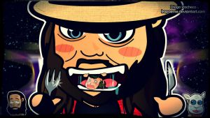 Bray Wyatt vs John Cena - WM30 Chibi Wallpaper by kapaeme