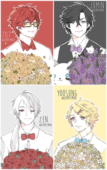 bowties + flowers by wolphfe