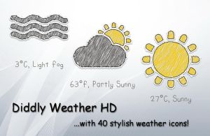 Diddly Weather HD for xwidget by jimking