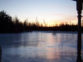 icy sunset by Cainamoon