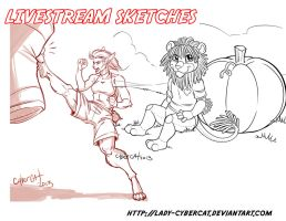 2 November Livestream Sketch Commissions 6 by lady-cybercat