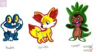 Pokemon- Gen 6 X and Y Starters! by RachelRoseLitts