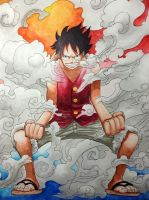 Gear Second Luffy by VA2O